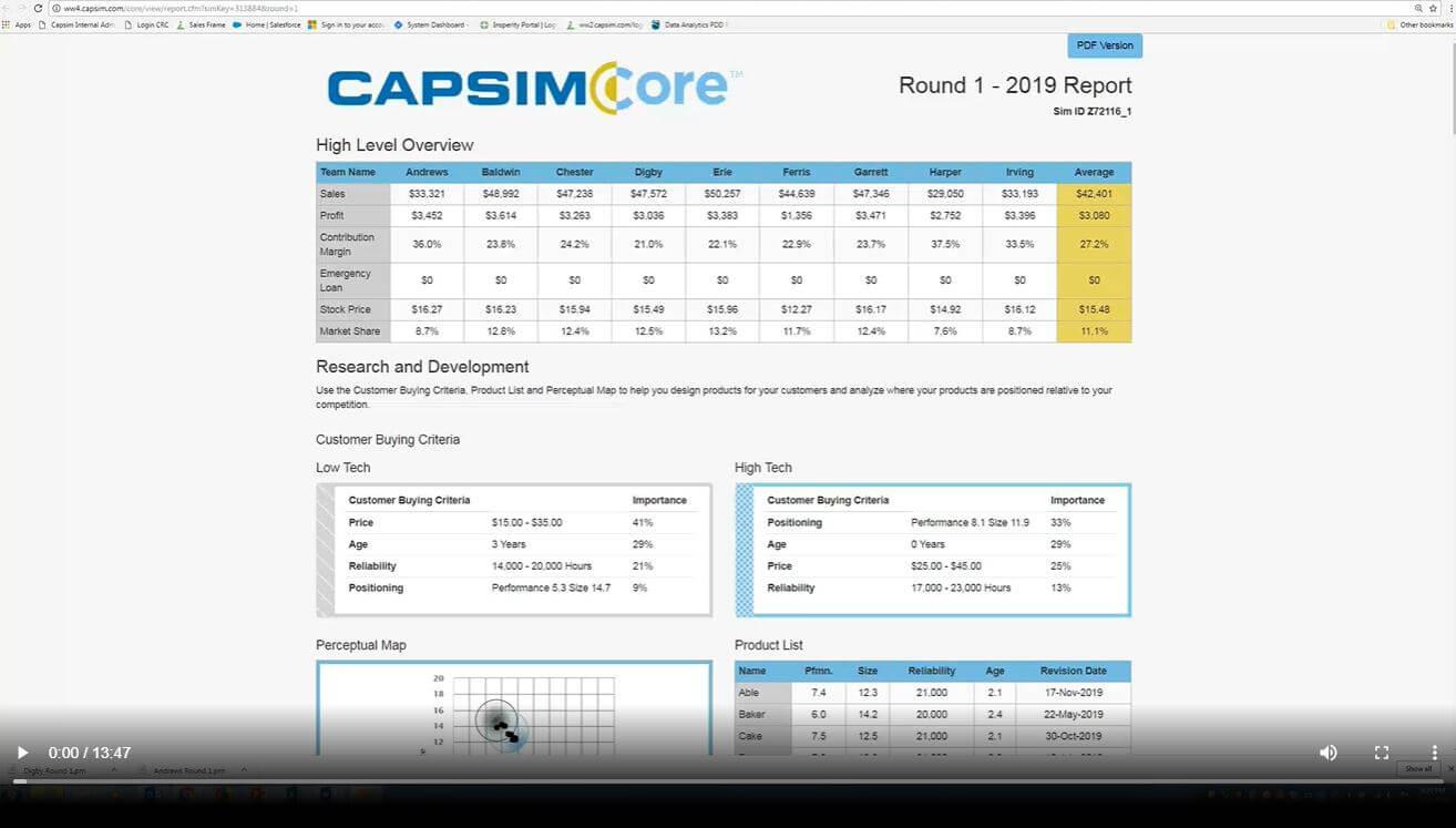 CapsimCore Support Video