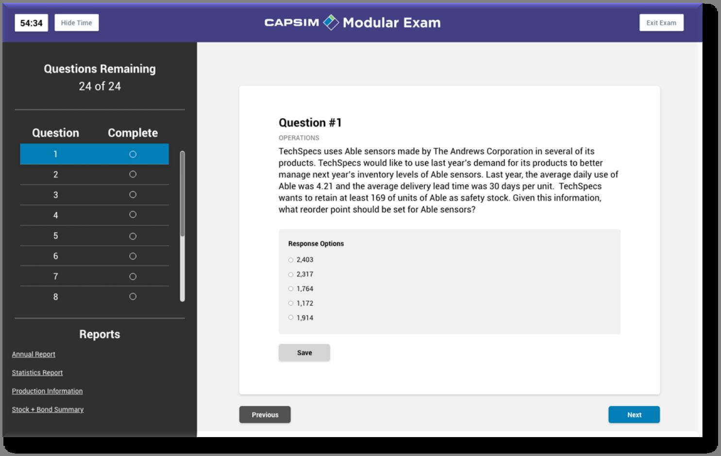 Capsim-Modular-Exam_Webapp