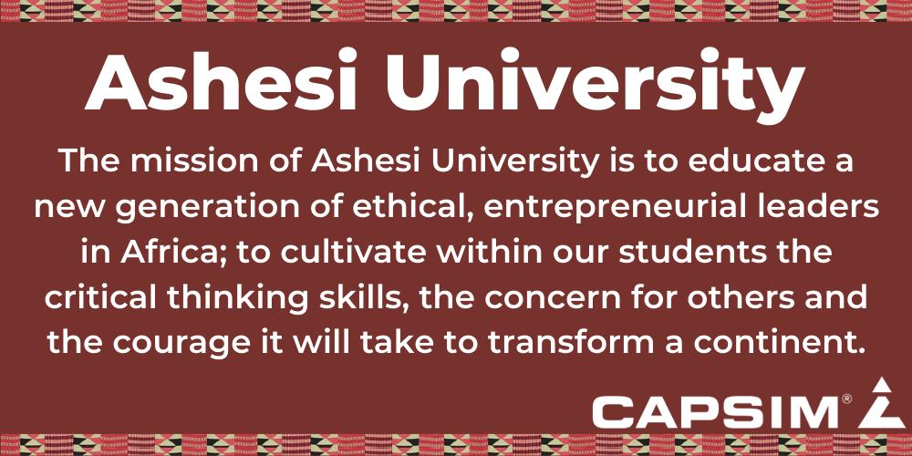 Ashesi University's Mission