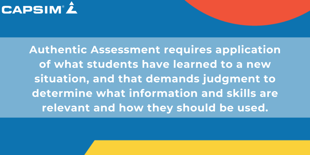 Defining Authentic Assessment