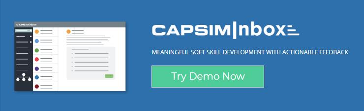 soft skill development with CapsimInbox