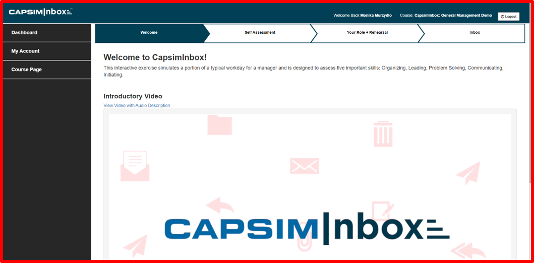 What is CapsimInbox Before
