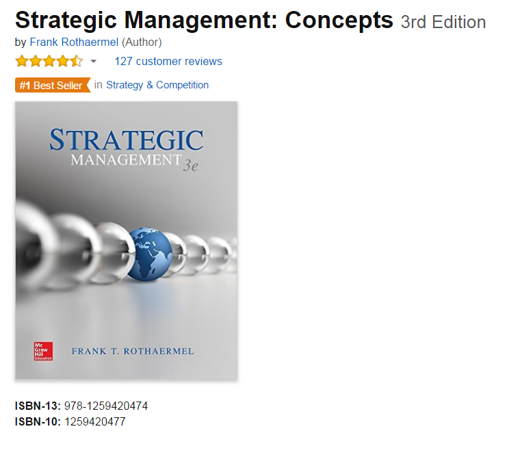 Amazon's #1 selling strategy textbook.