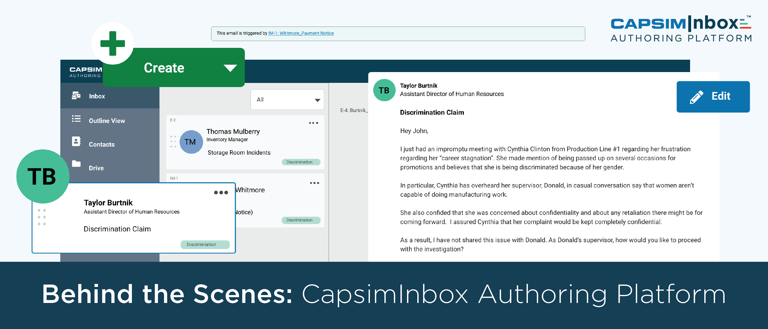 The Past, Present and Future of Experiential Learning: CapsimInbox Authoring Platform