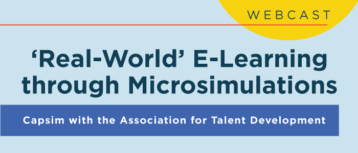 Real-World' E-Learning Through Microsimulations Webcast