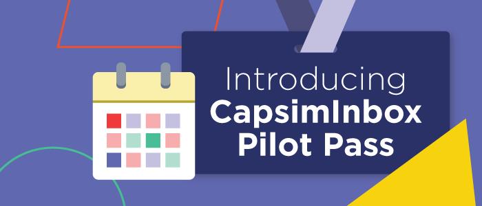 Introducing CapsimInbox Pilot Pass