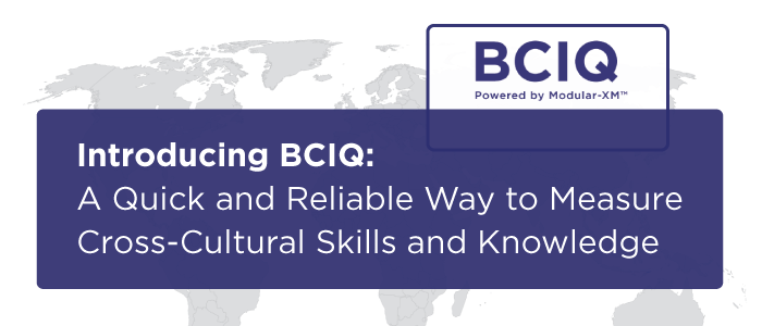 Introducing BCIQ: A Quick and Reliable Way to Measure Cross-Cultural Skills and Knowledge