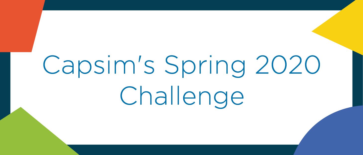 Lockdown intensifies Capsim Spring Challenge in 2020