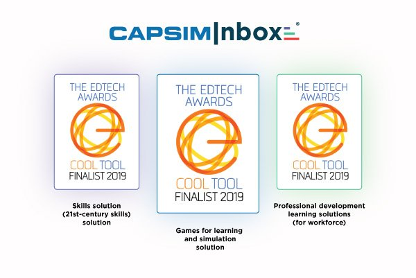 CapsimInbox® Recognized as a Finalist for the 2019 EdTech Awards