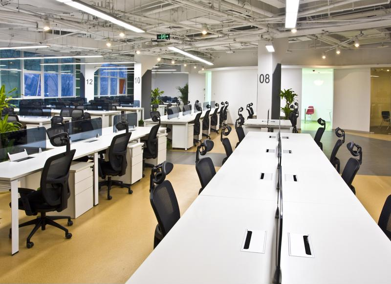 Open office plans allow for more natural light in the workspace, as well as better collaboration.